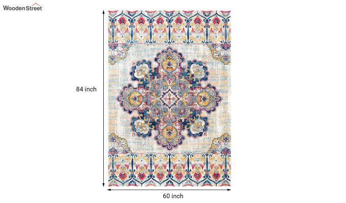 Vintage Blue Nylon Carpet -  7 x 5 Feet-4