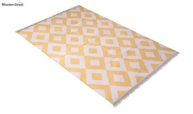 White Topaz Hand Woven Cotton Rug (White Topaz)-2