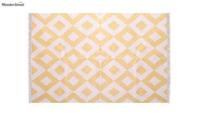 White Topaz Hand Woven Cotton Rug (White Topaz)-3