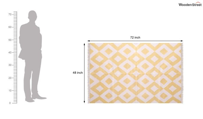 White Topaz Hand Woven Cotton Rug (White Topaz)-5