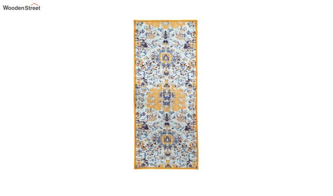 Yellow Washed Vintage Polyester Runner-4