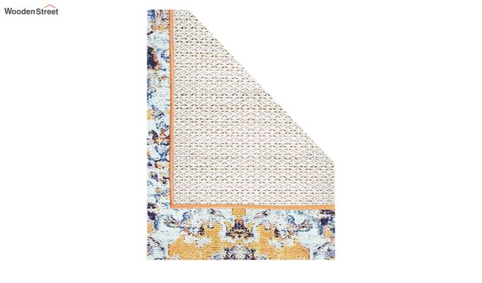 Yellow Washed Vintage Polyester Runner-6