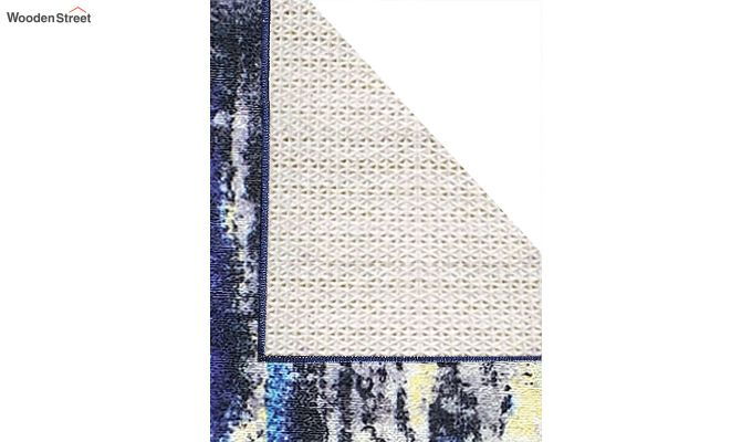 Blue Abstract Pattern Vintage Polyester Runner-5