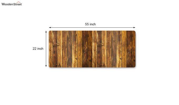 Brown Nylon Geometric Pattern Bed Side Runner-6