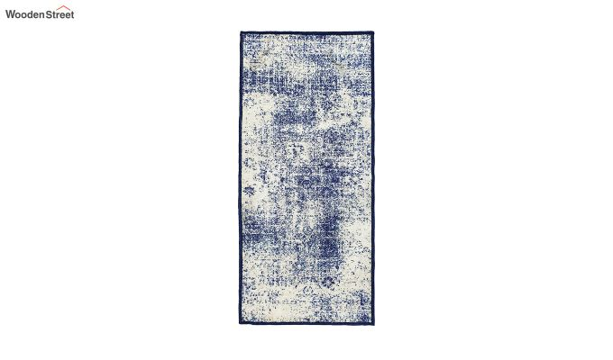 Grey Abstract Pattern Polyester Vintage Bed Side Runner-7