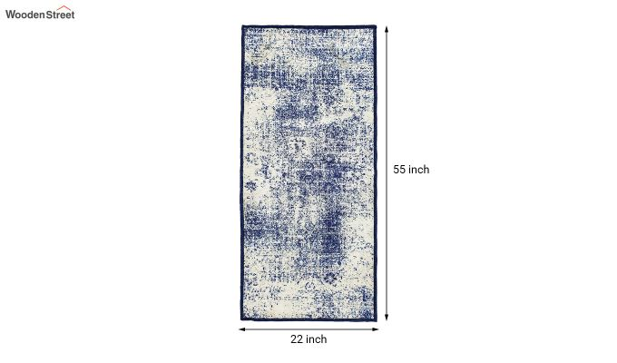 Grey Abstract Pattern Polyester Vintage Bed Side Runner-8