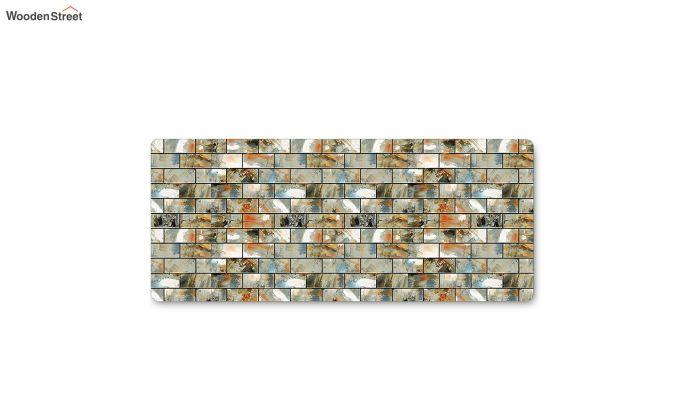 Grey Nylon Geometric Pattern Floor Mat-5