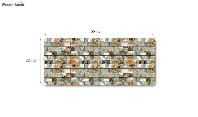 Grey Nylon Geometric Pattern Floor Mat-6