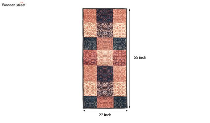 Multicolour Ethnic Pattern Polyester Bed Side Runner-8