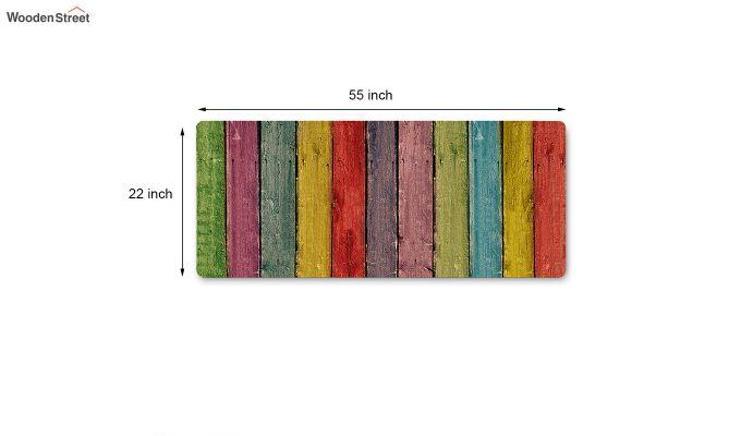 Multicolour Geometric Pattern Nylon Bed Side Runner-5