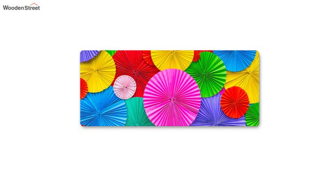 Pink Abstract Pattern Nylon Bed Side Runner-5
