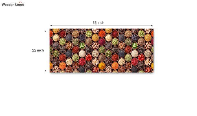 Red Abstract Pattern Nylon Floor Mat-6