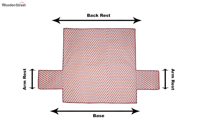 Pink Quilted Cotton 3 Seater Sofa Cover-4