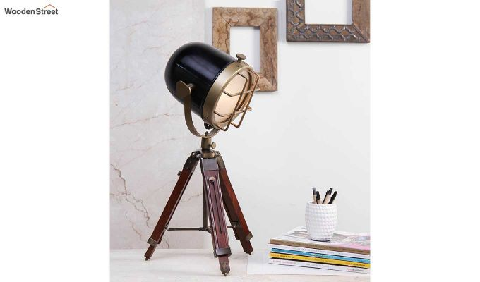 Blaze Brass Tripod Lamp by Grated Ginger-1
