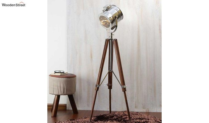 Corse Nickel Tripod Lamp by Grated Ginger-1