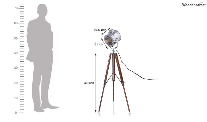 Corse Nickel Tripod Lamp by Grated Ginger-6