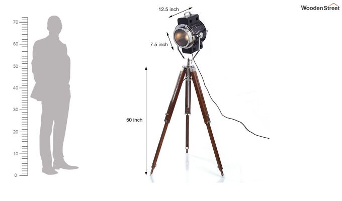 Focus Wood Tripod Lamp by Grated Ginger-6