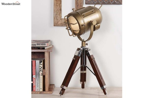 Marine Brass Tripod Lamp by Grated Ginger-1