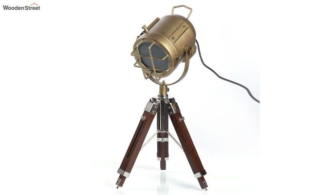 Marine Brass Tripod Lamp by Grated Ginger-2