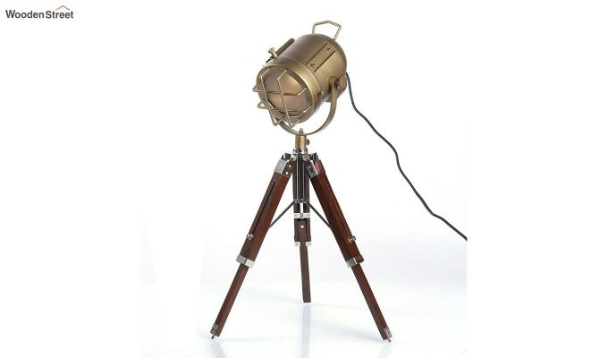 Marine Brass Tripod Lamp by Grated Ginger-3