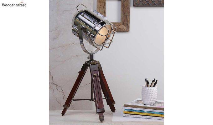 Marine Nickel Tripod Lamp by Grated Ginger-1