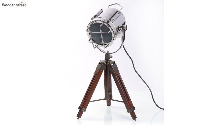 Marine Nickel Tripod Lamp by Grated Ginger-2