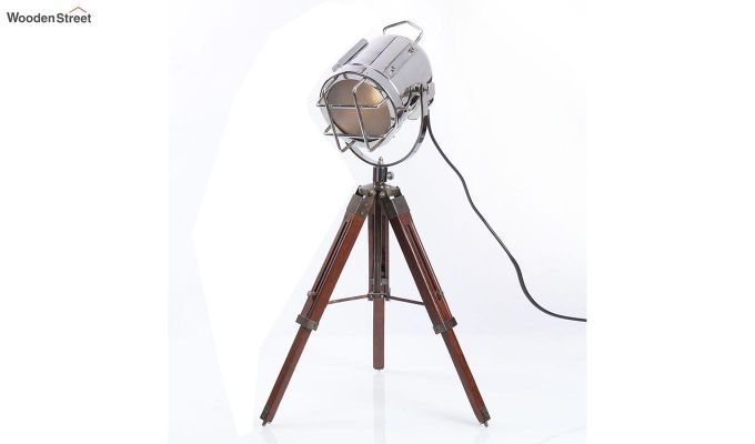 Marine Nickel Tripod Lamp by Grated Ginger-3