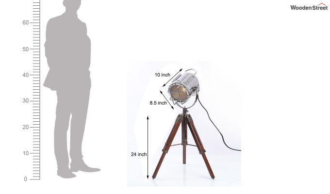 Marine Nickel Tripod Lamp by Grated Ginger-6