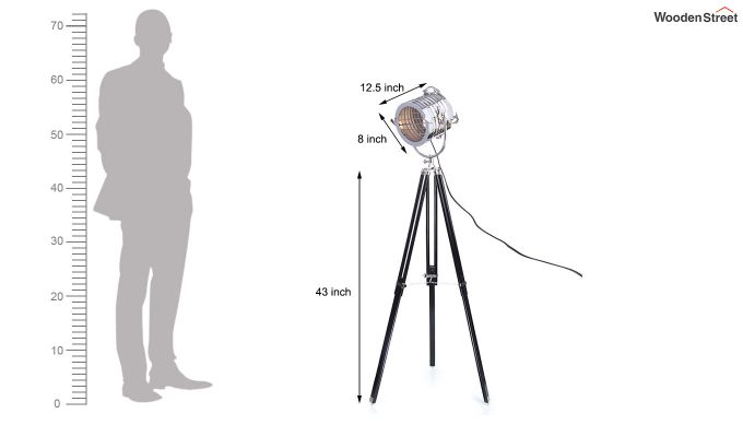 Potter Black Tripod Lamp by Grated Ginger-6