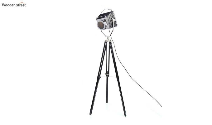 Retro Black Tripod Lamp by Grated Ginger-3