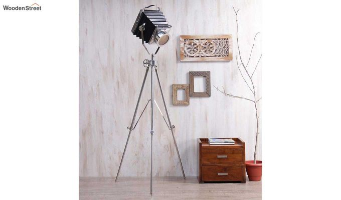 Retro Silver Tripod Lamp by Grated Ginger-1