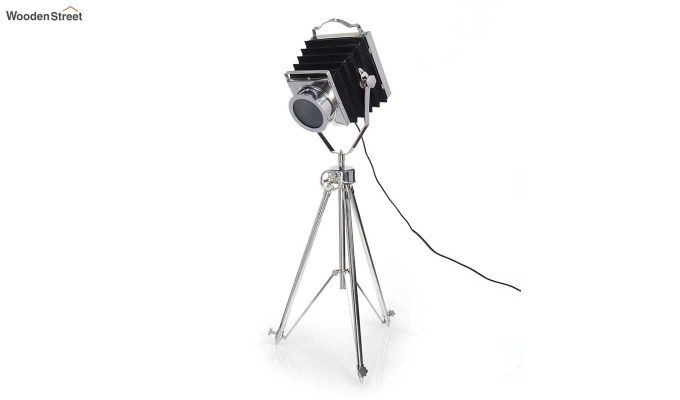 Retro Silver Tripod Lamp by Grated Ginger-2