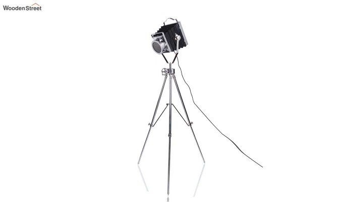 Retro Silver Tripod Lamp by Grated Ginger-3