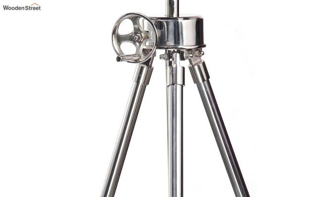 Retro Silver Tripod Lamp by Grated Ginger-5