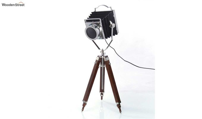 Retro Wood Tripod Lamp by Grated Ginger-2