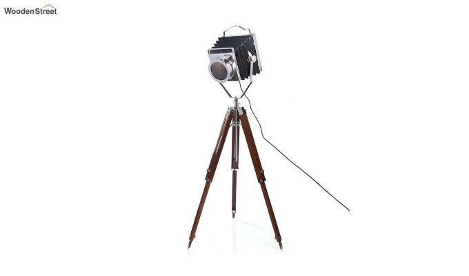 Retro Wood Tripod Lamp by Grated Ginger-3