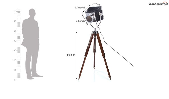 Retro Wood Tripod Lamp by Grated Ginger-6
