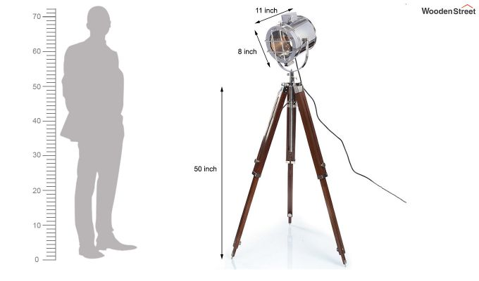 Saber Wood Tripod Lamp by Grated Ginger-6