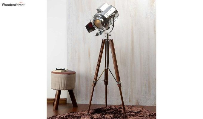 Satellite Wood Tripod Lamp by Grated Ginger-1