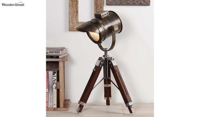 Shaded Antique Tripod Lamp by Grated Ginger-1
