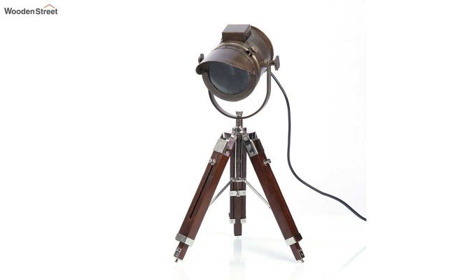 Shaded Antique Tripod Lamp by Grated Ginger-2