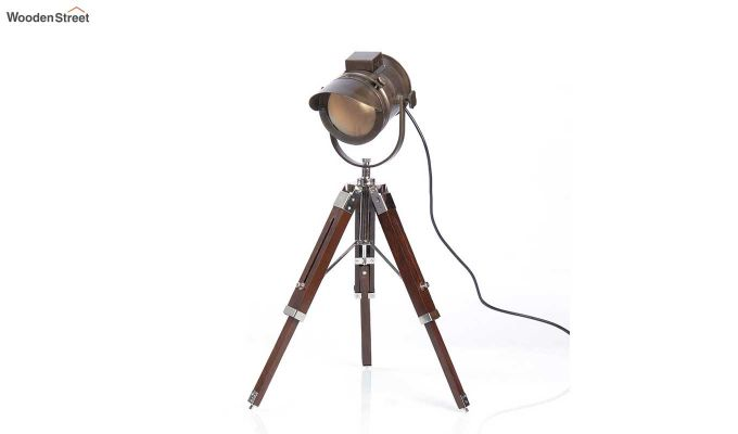 Shaded Antique Tripod Lamp by Grated Ginger-3