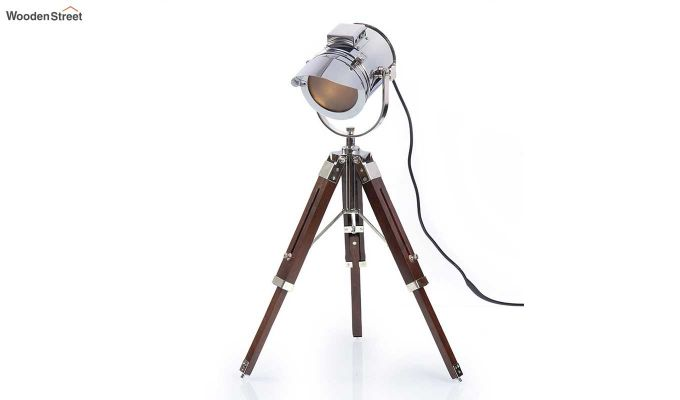 Shaded Nickel Tripod Lamp by Grated Ginger-3