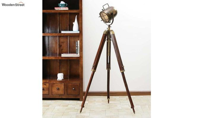 Shaft Wood Tripod Lamp by Grated Ginger-1