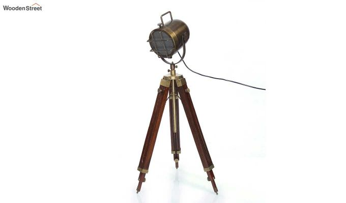 Shaft Wood Tripod Lamp by Grated Ginger-2