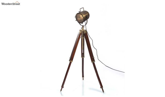 Shaft Wood Tripod Lamp by Grated Ginger-3