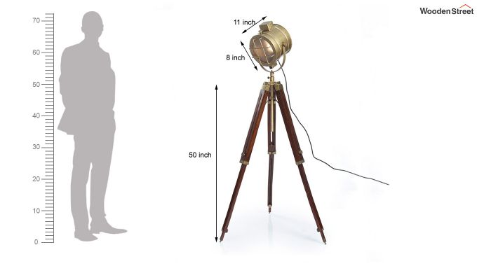 Sol Brass Tripod Lamp by Grated Ginger-6