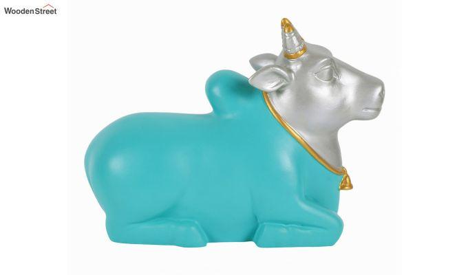 Blue Nandi Resin Figurine-2