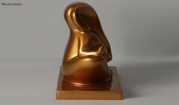 Golden Ganesha Resin Figurine-3