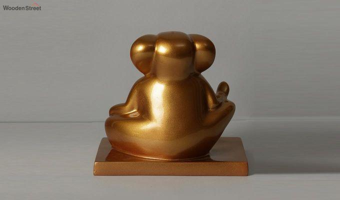 Golden Ganesha Resin Figurine-4